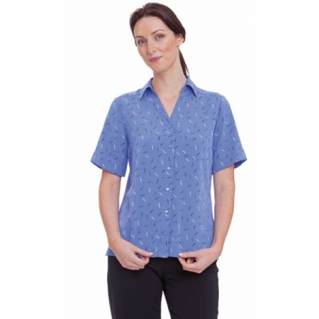 Ladies Drift Print Shirt - Style 2192