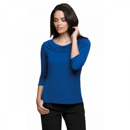 Eva Cowl 3/4 Sleeve Blouse - Style 2226
