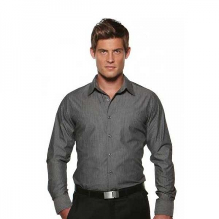 Model Stripe - Semi Fit Long Sleeve Men's Shirt - 3010L12