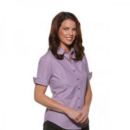 Model Stripe - Semi Fit Short Sleeve Ladies - 6070Z12