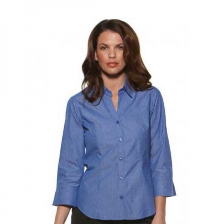 Model Stripe - Fitted 3/4 Sleeve Ladies Shirt 6200Q12