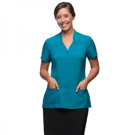 Ladies spa tunic style h630l healthcare uniforms for Spa uniform australia