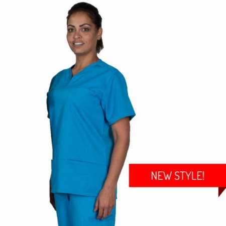 HCUA Silky Soft Scrubs Top - HCUAT01- Aqua