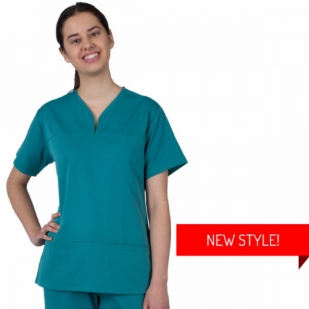 HCUA Soft Scrubs Top - HCUAT01- Jade Green