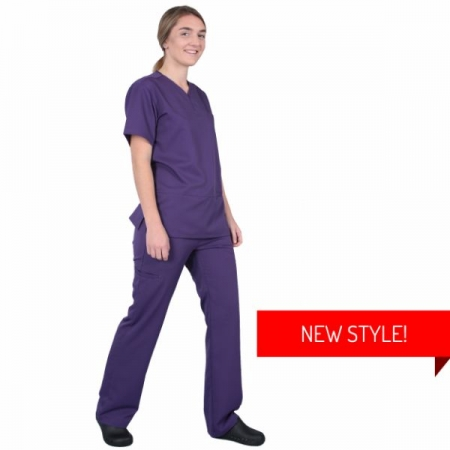 HCUA Silky Soft Scrubs Pant - HCUAP01- Purple