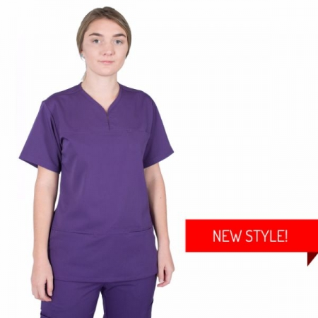 HCUA Soft Scrub Top - HCUAT01-Purple