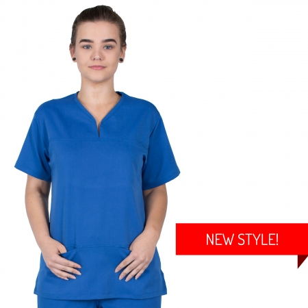 HCUA Soft Scrub Top - HCUAT01- Royal