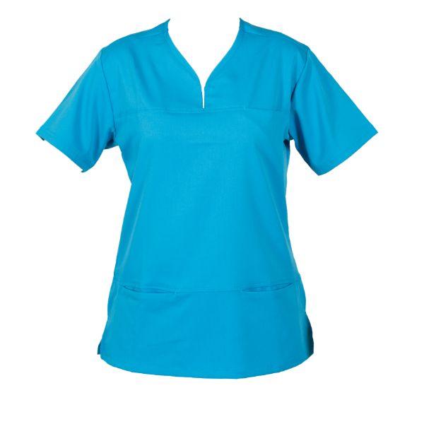 Hcua Soft Stretch Scrubs Top Hcuat01 Aqua Healthcare